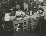 Students in Alumni Memorial Library Reading Room, Spring 1955