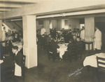 Students in Lower Dining Room, Freeland Hall