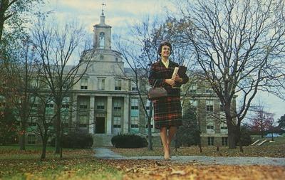 Lynne Maloney and Pfahler Hall