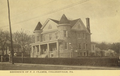 Residence of F. J. Clamer, Collegeville, PA.
