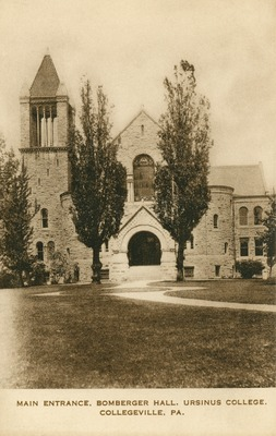Main Entrance, Bomberger Hall, Ursinus College, Collegeville, PA.
