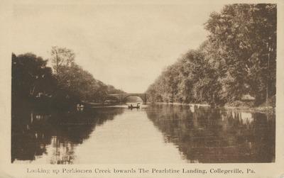 Looking up Perkiomen Creek Towards the Pearlstine Landing, Collegeville, Pa.