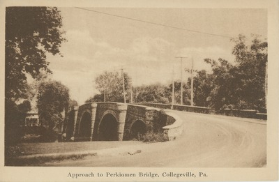Approach to Perkiomen Bridge, Collegeville, Pa.