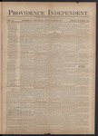Providence Independent, V. 3, Thursday, September 20, 1877, [Whole Number: 118] by Providence Independent