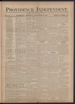 Providence Independent, V. 3, Thursday, September 27, 1877, [Whole Number: 119] by Providence Independent