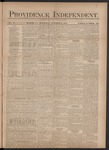 Providence Independent, V. 3, Thursday, October 11, 1877, [Whole Number: 121]