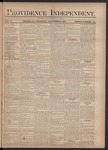 Providence Independent, V. 3, Thursday, November 15, 1877, [Whole Number: 126]