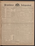 Providence Independent, V. 8, Thursday, October 19, 1882, [Whole Number: 384]