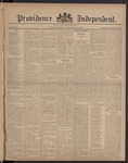 Providence Independent, V. 8, Thursday, October 26, 1882, [Whole Number: 385]