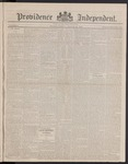 Providence Independent, V. 8, Thursday, March 22, 1883, [Whole Number: 406]