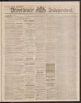 Providence Independent, V. 9, Thursday, October 11, 1883, [Whole Number: 434]