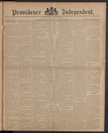 Providence Independent, V. 10, Thursday, August 7, 1884, [Whole Number: 477]
