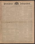 Providence Independent, V. 10, Thursday, October 9, 1884, [Whole Number: 486]