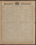 Providence Independent, V. 10, Thursday, October 16, 1884, [Whole Number: 487]