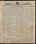 Providence Independent, V. 10, Thursday, October 30, 1884, [Whole Number: 489]