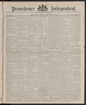 Providence Independent, V. 10, Thursday, November 27, 1884, [Whole Number: 493]
