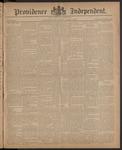 Providence Independent, V. 10, Thursday, April 2, 1885, [Whole Number: 511]