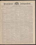 Providence Independent, V. 11, Thursday, October 8, 1885, [Whole Number: 538]