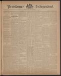 Providence Independent, V. 12, Thursday, November 4, 1886, [Whole Number: 594] by Providence Independent