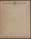Providence Independent, V. 12, Thursday, November 25, 1886, [Whole Number: 597] by Providence Independent