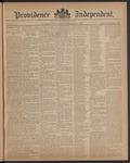 Providence Independent, V. 12, Thursday, December 2, 1886, [Whole Number: 598]
