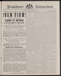 Providence Independent, V. 12, Thursday, March 31, 1887, [Whole Number: 615] by Providence Independent