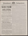 Providence Independent, V. 12, Thursday, April 14, 1887, [Whole Number: 617] by Providence Independent