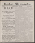 Providence Independent, V. 12, Thursday, April 21, 1887, [Whole Number: 618]