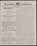 Providence Independent, V. 12, Thursday, April 28, 1887, [Whole Number: 619]