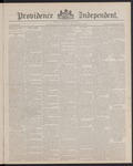 Providence Independent, V. 13, Thursday, September 8, 1887, [Whole Number: 638]