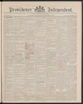 Providence Independent, V. 15, Thursday, September 26, 1889, [Whole Number: 744] by Providence Independent