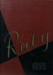 1955 Ruby Yearbook by Elsie R. Belz, Roland W. Dedekind Jr., Larry F. Zartman, Kathryn A. Feucht, and Ursinus College Senior Class