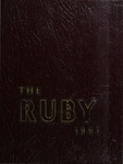 1961 Ruby Yearbook by Bruce P. Sherman, Suann Pontius, Glen W. Snyder, David A. Crisman, and Ursinus College Senior Class