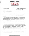 """Press Release: """"Ursinus Dedicates Snell Chair,"""" May 11, 1988 by College Communications"""