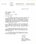 Letter From Ruth R. Harris to Eleanor Snell, April 20, 1970