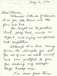 Letter From Bunny Vosters to Eleanor Snell, May 6, 1970