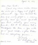 Letter From E J Buckingham Ruhe to Eleanor Snell, April 20, 1970