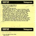 Telegram From Betty Kirlin to Doris Abrams, May 21, 1970
