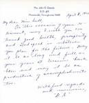 Letter From Doris Stierly to Eleanor Snell, April 8, 1970