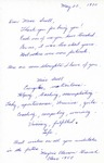 Letter From Marjorie Clarson Grauch to Eleanor Snell, May 22, 1970