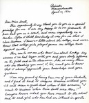 Letter From Pat Zelley to Eleanor Snell, April 10, 1970