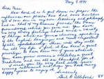Letter From Gail B. Allebach to Eleanor Snell, May 9, 1970