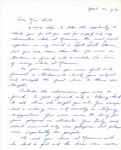 Letter From Judy Smiley to Eleanor Snell, April 22, 1970