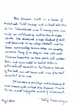 Tribute From Betty Shellenberger to Eleanor Snell, May 1, 1970