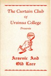 Program for the Stage Production Arsenic and Old Lace