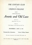 Program for the Stage Production Arsenic and Old Lace by Curtain Club