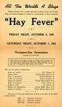 Program for the Stage Production Hay Fever