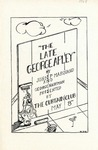 Program for the Stage Production The Late George Apley