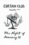 Program for the Stage Production The Night of January 16th by Curtain Club