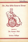 Program for the Stage Production The Man Who Came to Dinner by Curtain Club